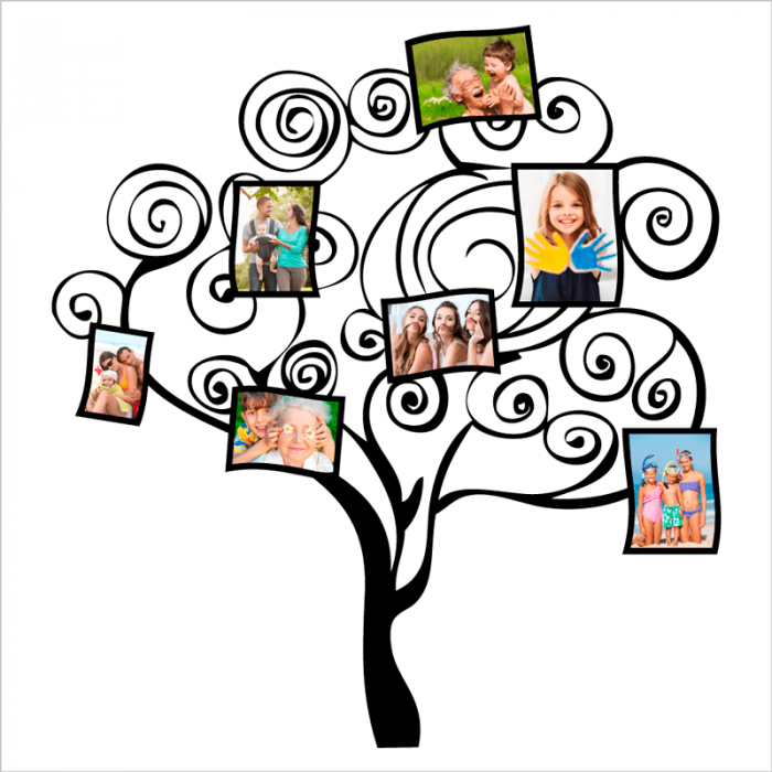vinilo arbol para personalizar con fotos