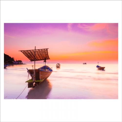 fotomural decorativo barca de pesca