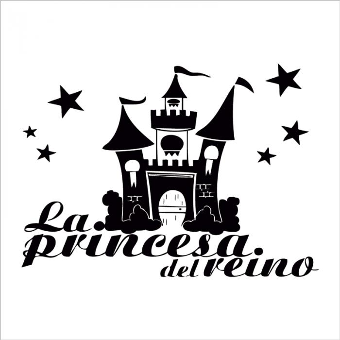 vinilo infantil la princesa del reino