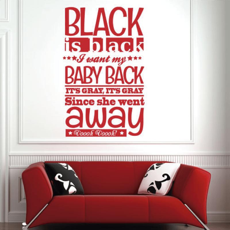 Simulacion vinilo black is black