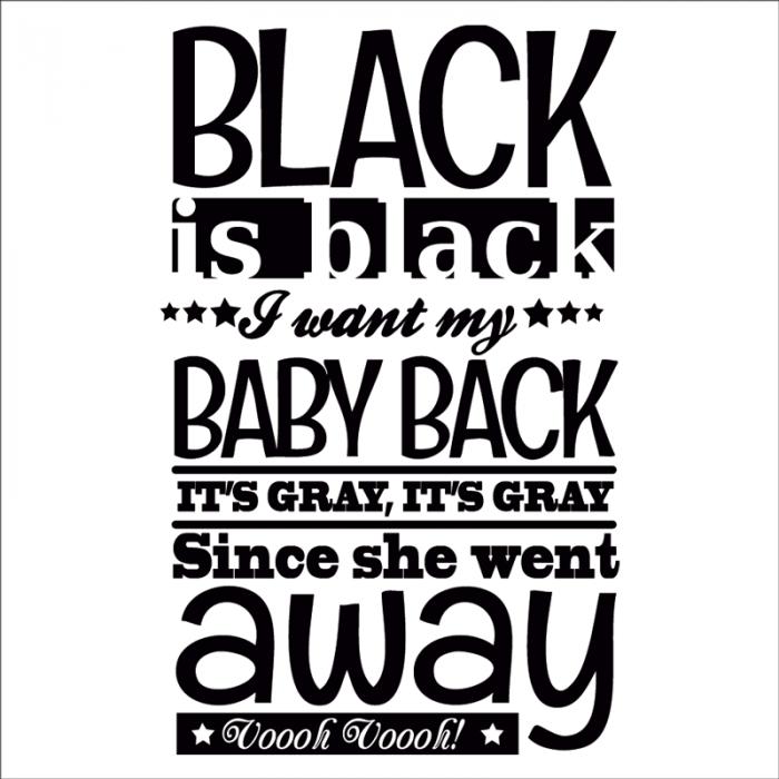 vinilos de frases para pared black is black