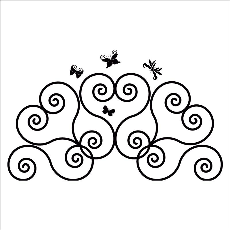 Cabecero mariposas