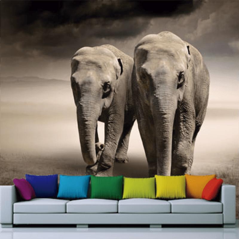 Simulacion Mural elefante africano