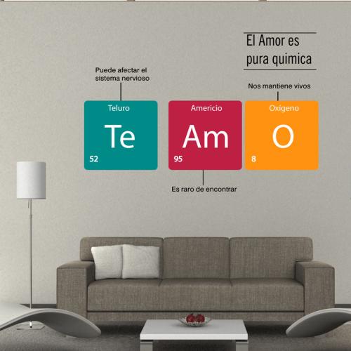 Simulación frase el amor es quimica