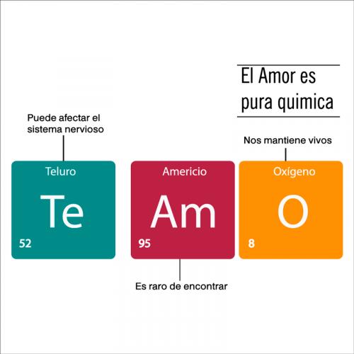 frase el amor es química