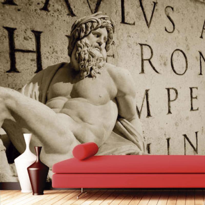 Simulacion sobre pared grabado romano