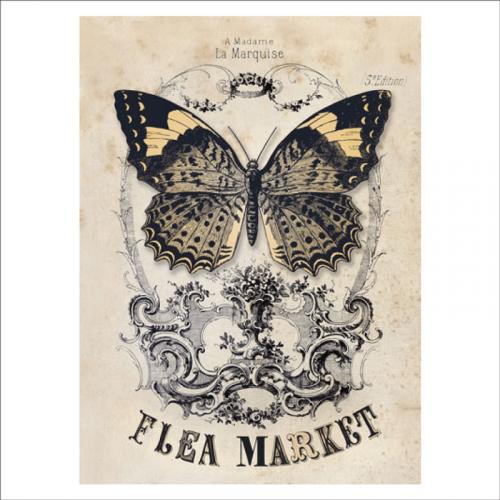papel pintado vintage mariposa