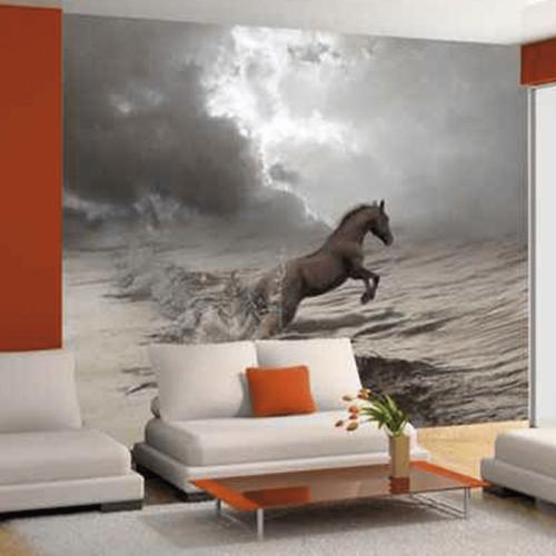 Simulacion colocación mural decorativo