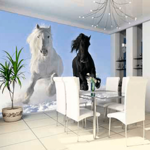 Simulacion colocacion mural caballos