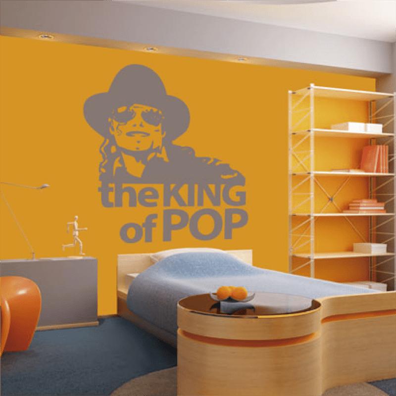 Simulacion vinilo el rey del pop