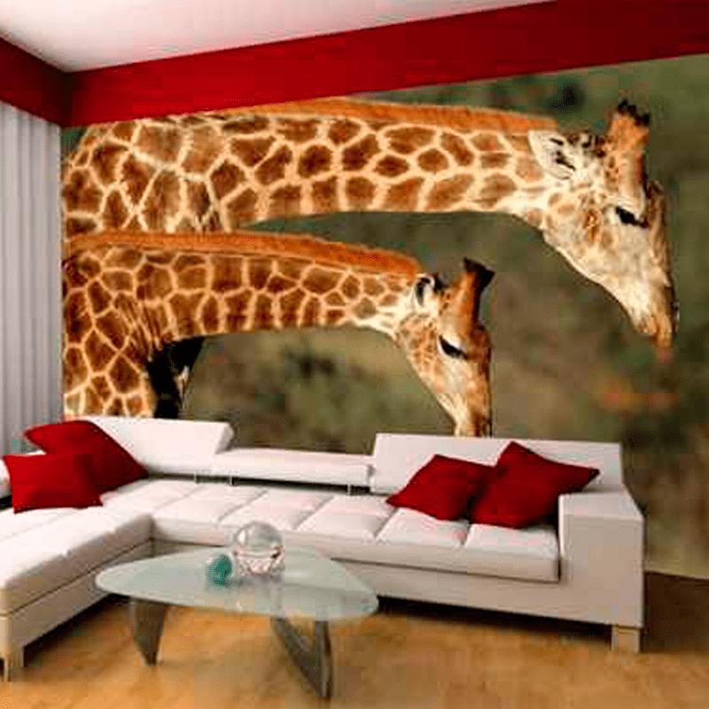 Simulacion colocación mural jirafas