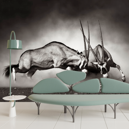 Simulacion mural antilopes
