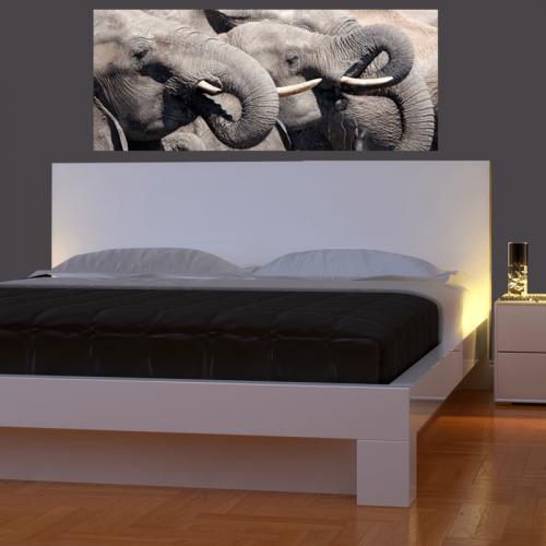 Simulacion mural cabecero de cama