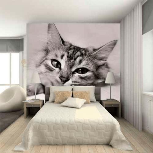 Simulacion mural gato