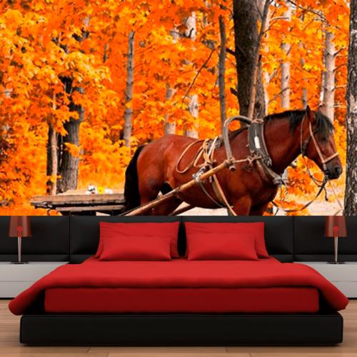 Simulacion colocacion mural caballo