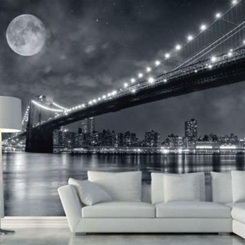 simulacion puente brooklyn de noche