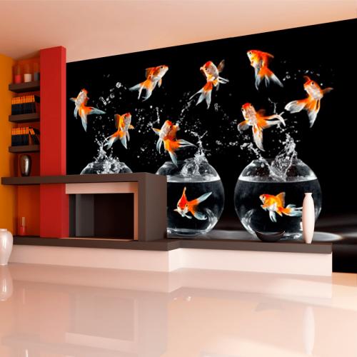 Simulacion mural peces