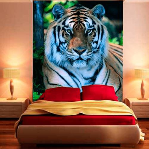 Simulacion mural tigre de biengala