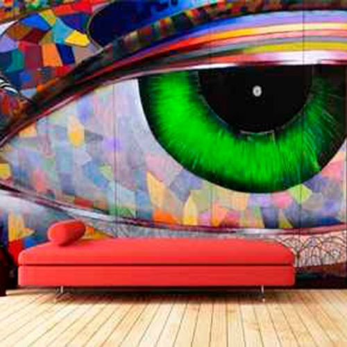 Simulación graffiti ojo