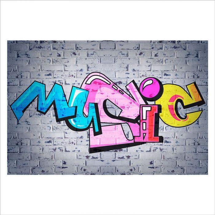 decoracion graffiti music