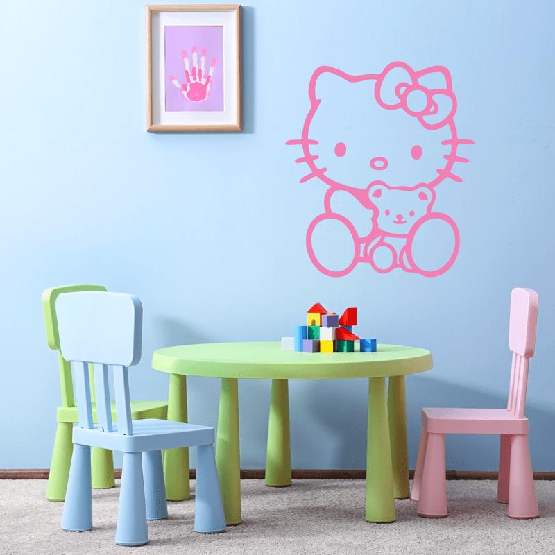 Simulacion vinilo infantil Hello Kitty