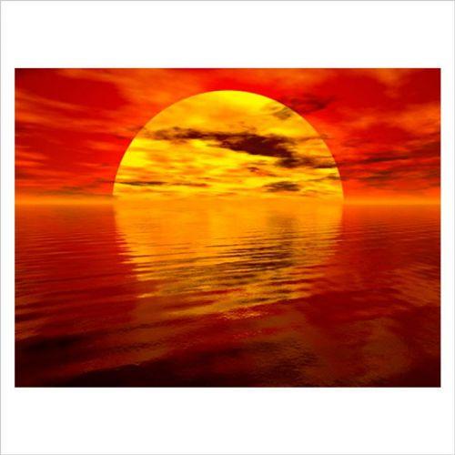Fotomural vinilo puesta de sol en el mar