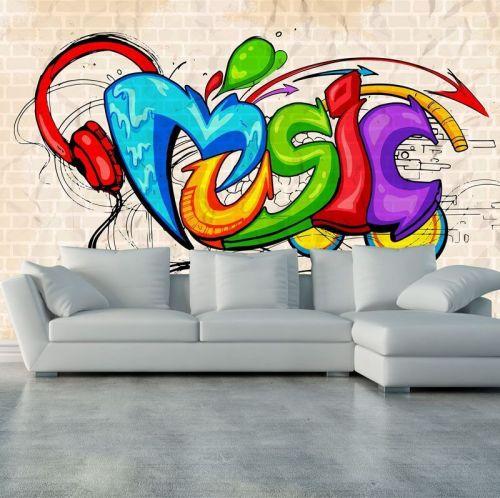 Simulacion graffiti mural music