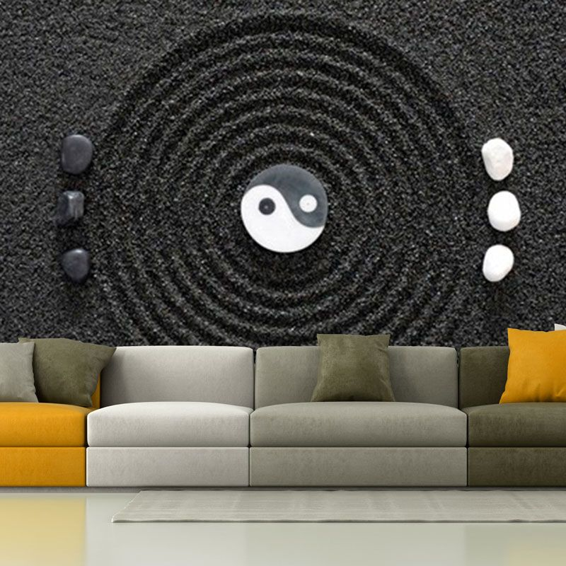 Simulacion mural jardin zen
