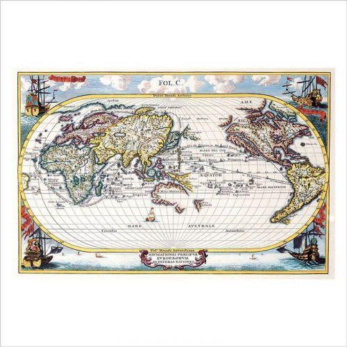 mapa mundi para pared