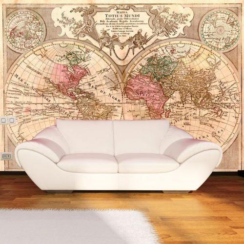 simulacion mural mapamundi
