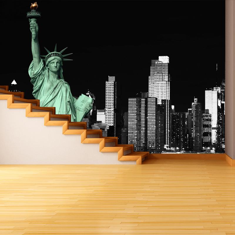 Simulación Nueva york estatua de la libertad
