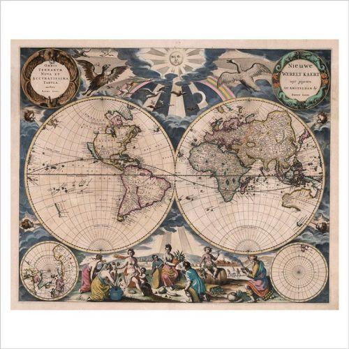 murales mapa del mundo
