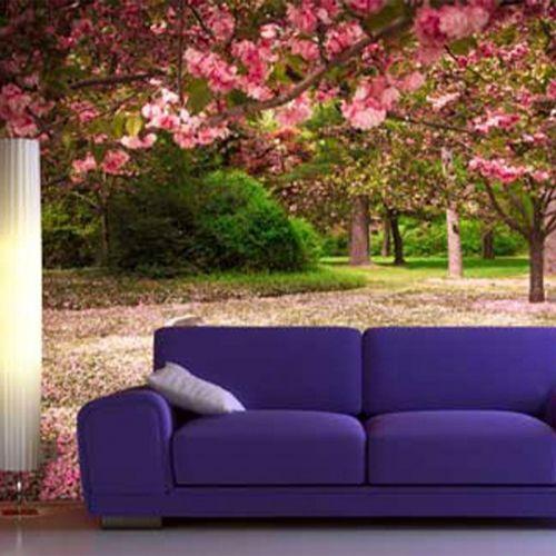 Simulacion mural cerezo en flor