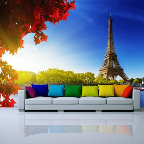 Simulación colocación Torre Eiffel en parís