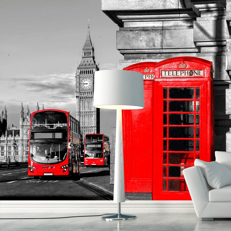 Simulacion Londres teléfono y autobus