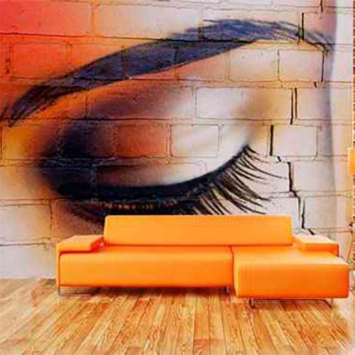 Simulacion graffiti ojo de mujer