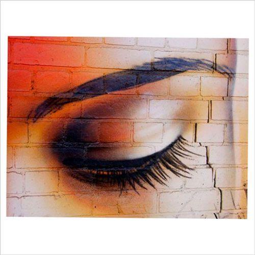 pared graffiti ojo de mujer