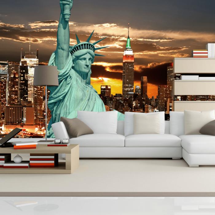 Simulación mural ciudad de nueva york