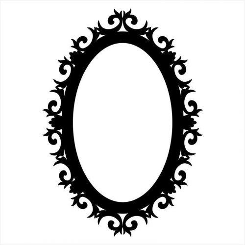 Vinilo marco espejo