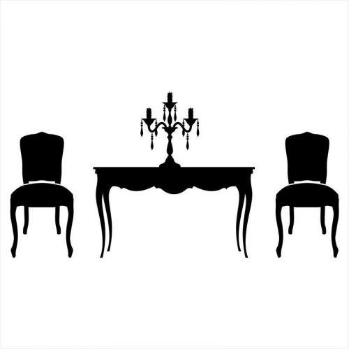 vinilo muebles: sillas y mesas vintage