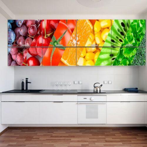 Cimulacion mural verduras y frutas
