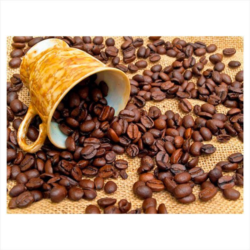 vinilo pared cocina cafe en grano