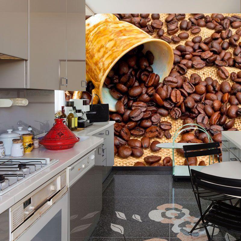 Simulacion mural cafe en grano