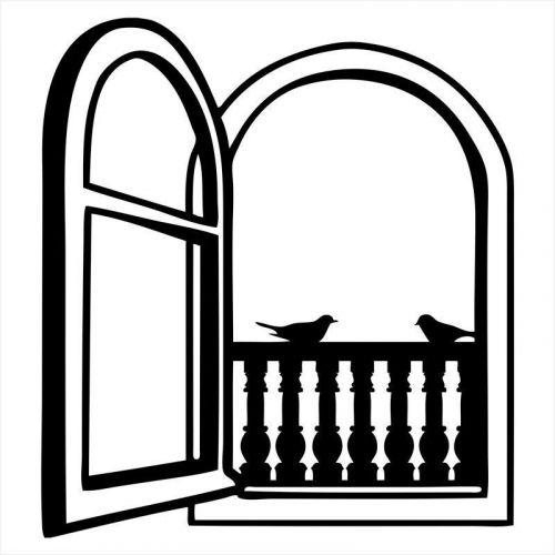 vinilo simulando ventana