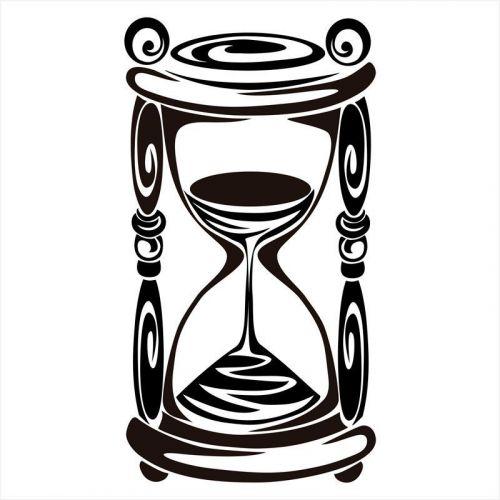 vinilos adhesivos reloj de arena