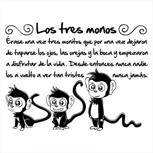 Vinilos-infantiles-animales los tres monos