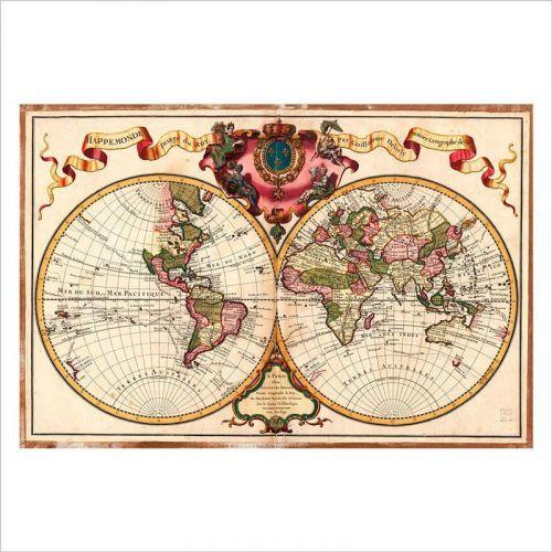Vinilos mapa del mundo