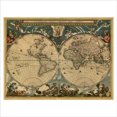 vinilo mapamundi agricola