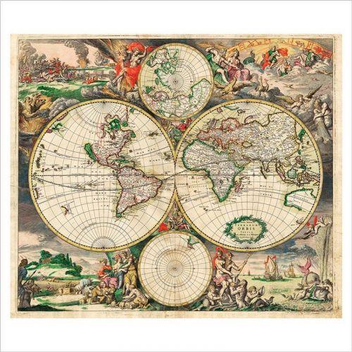 vinilos mapas mundi antiguos