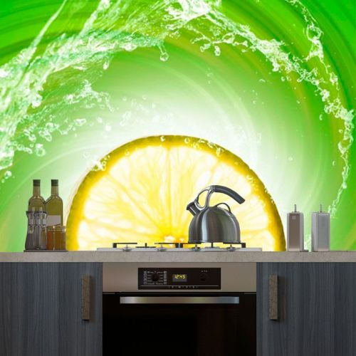 Simulacion fotomural cocina rodaja de lima